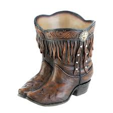 wholesale fringed cowboy boot planter buy wholesale garden planters