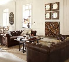Chesterfield Tufted Leather Sofa Pottery Barn Chesterfield Sofa 1025theparty