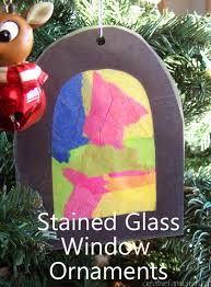 stained glass window ornament creative family