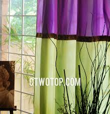 Yellow And Purple Curtains And Purple Polyester Living Room Beautiful Window Curtains