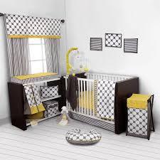 Yellow And Gray Crib Bedding Set Bacati Dots Pin Stripes Gray Yellow 10 Nursery In A