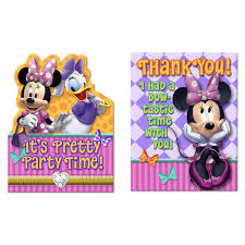 minnie mouse thank you cards minnie mouse invitations and thank you postcards