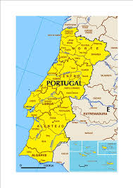 Portugal Spain Map by Wine Regions Martavine