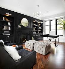 Custom Living Room Cabinets Toronto Black Built In Cabinets Contemporary Den Library Office The