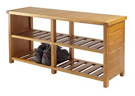 Dining Room Bench With Storage Amazon Com Winsome Keystone Shoe Bench Kitchen U0026 Dining