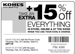 kohls coupons u0026 promo codes