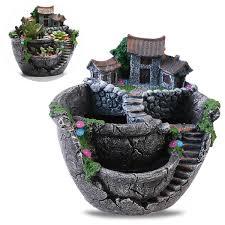 pot bonsai design plant pots punson mini castle micro landscape artificial flower