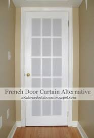 tan beige and white gingham check french door curtain panels