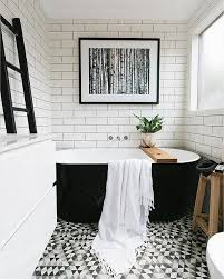 bathroom black and white 9 gorgeously graphic bathrooms courtesy of instagram black grout