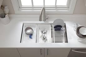 Kohler Stainless Steel Undermount Kitchen Sinks by Kitchen Sinks Bar Kohler Undermount Triple Bowl Specialty Sand