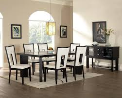 modern dining room chandeliers futuristic black wooden chairs