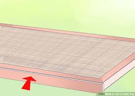 How To Make A Picnic Table Out Of 1 Sheet Of Plywood by How To Tile A Table Top With Pictures Wikihow
