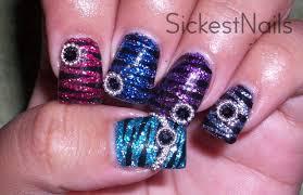 acrylic nail design colorful zebra nails youtube
