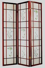 asia direct 5443 cherry finsh 3 panel room divider screen with