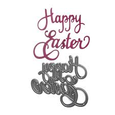 find more cutting dies information about new happy easter shape