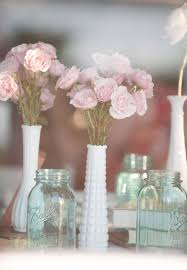 Mason Jar Vases For Wedding 10 Vintage Milk Glass Decor Ideas For Your Wedding Unique