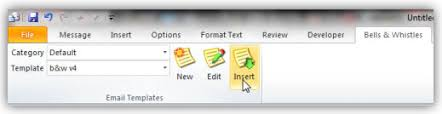 create outlook email templates for outlook messages with bells