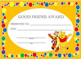 preschool certificates kids awards and certificates