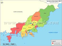 pusan on map busan map province map of busan pusan
