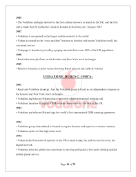 Junior Business Analyst Sample Resume by Vodafone Rural Project