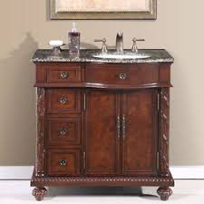 36 Inch Bathroom Vanity With Drawers by 36 Inch Single Bathroom Vanity Off Center Right Sink Stone Top