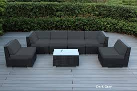 Black Outdoor Wicker Chairs Ohana Patio Outdoor Wicker Furniture Sectional 7 Pc Additional