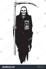 death hourglassdeadline concepthalloween character black white