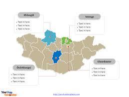 Mongolia On World Map Free Mongolia Editable Map Free Powerpoint Templates