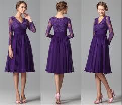 purple lace bridesmaid dress sleeves purple bridesmaids dresses 2015 a line v neck vintage