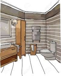 color drawing of bathroom interior modern style royalty free color drawing of bathroom interior modern style stock vector 41786788