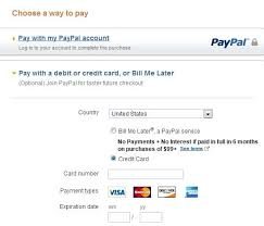 paypal and payment sample