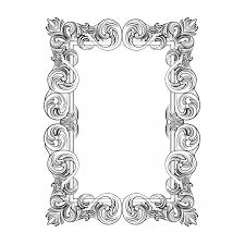 rectangular ornamental frame vector free