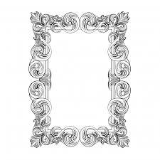 rectangular ornamental frame vector free