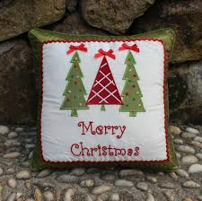 embroidered christmas vezo home applique embroidered christmas tree satin sofa chair