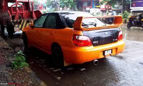 subaru orange spotted black subaru wrx sti edit crashed and now fixed