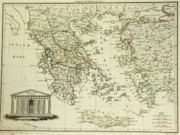 Greek Map Vintage Map Of Greece Greece Map
