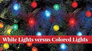 white lights versus color lights which makes a better tree