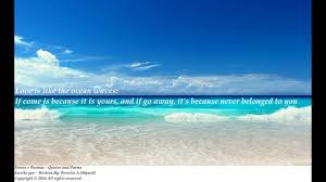 Love And Ocean Quotes by Love Is Like The Ocean Waves If Comes Is Because It Is Yours