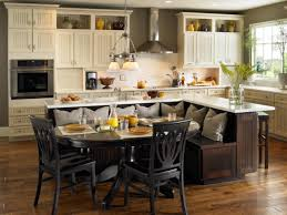 kitchen islands with seating tile flooring dining chair windows