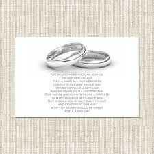 wedding gift poems personalised wedding rings gift poem card wedding stationery