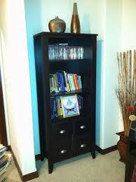 sauder shoal creek bookcase with doors jamocha wood youtube