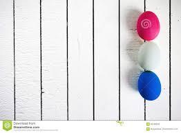 styrofoam easter eggs colorful ecological styrofoam easter eggs on a white wooden