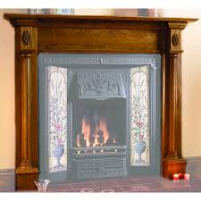 regency wooden fireplace mantel