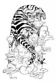 japanese flower drawing styles tiger designs flowers and
