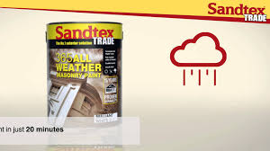 sandtex trade 365 all weather masonry paint youtube