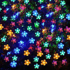 solar powered xmas string fairy christmas tree lights 21ft 50 led