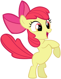 apple bloom happy rearing vector by kingharald on deviantart