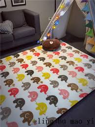 Kids Room Carpet by Kids Game Mat Elephant Pattern Baby Crawling Pad Educational Toy