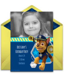 free online invitations with kids characters punchbowl
