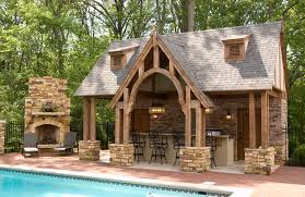 Build A Small House by Rustic Home Design Ideas With Small Swimming Pool Also With Brick